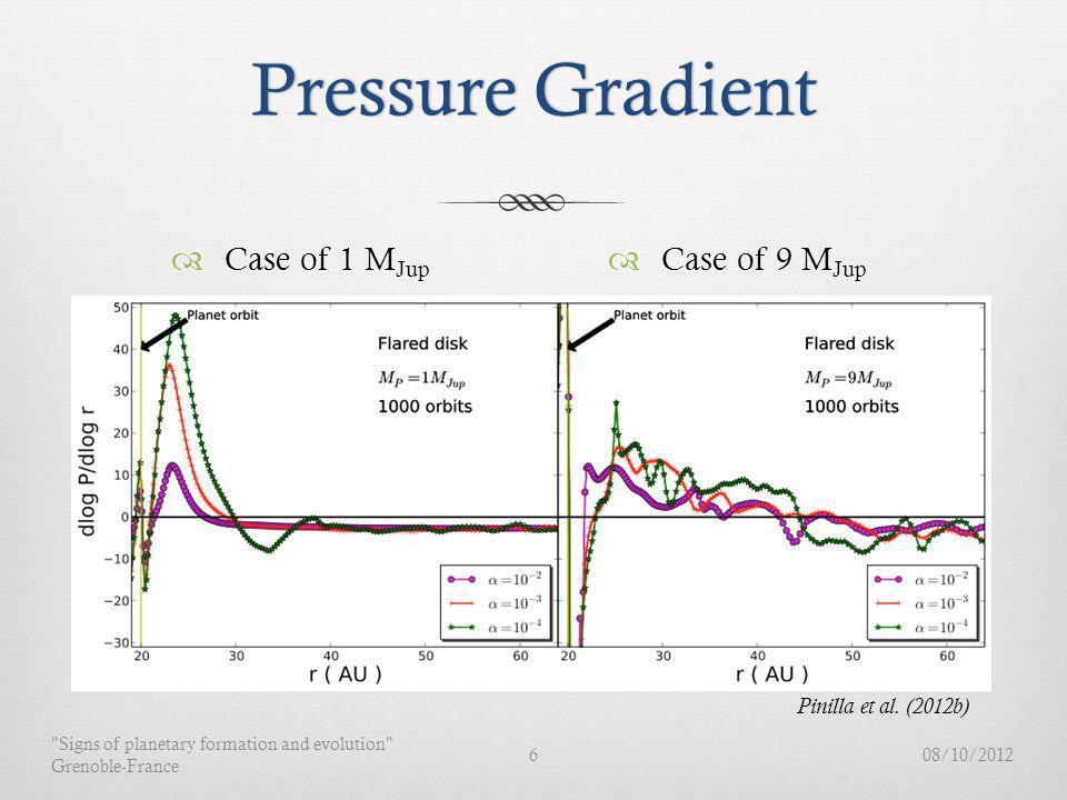 Pressure GradientPressure Gradient Case of 1 M Jup 08/10/2012