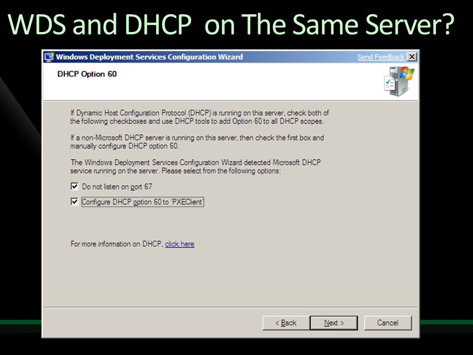 WDS and DHCP on The Same Server?