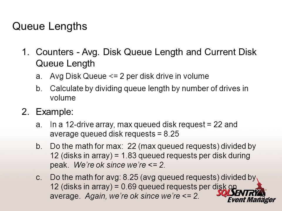 25 Queue Lengths 1.Counters - Avg.