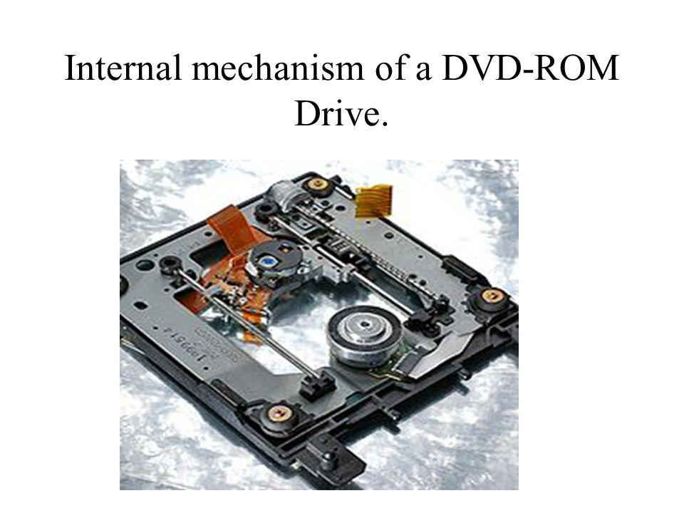 Internal mechanism of a DVD-ROM Drive.