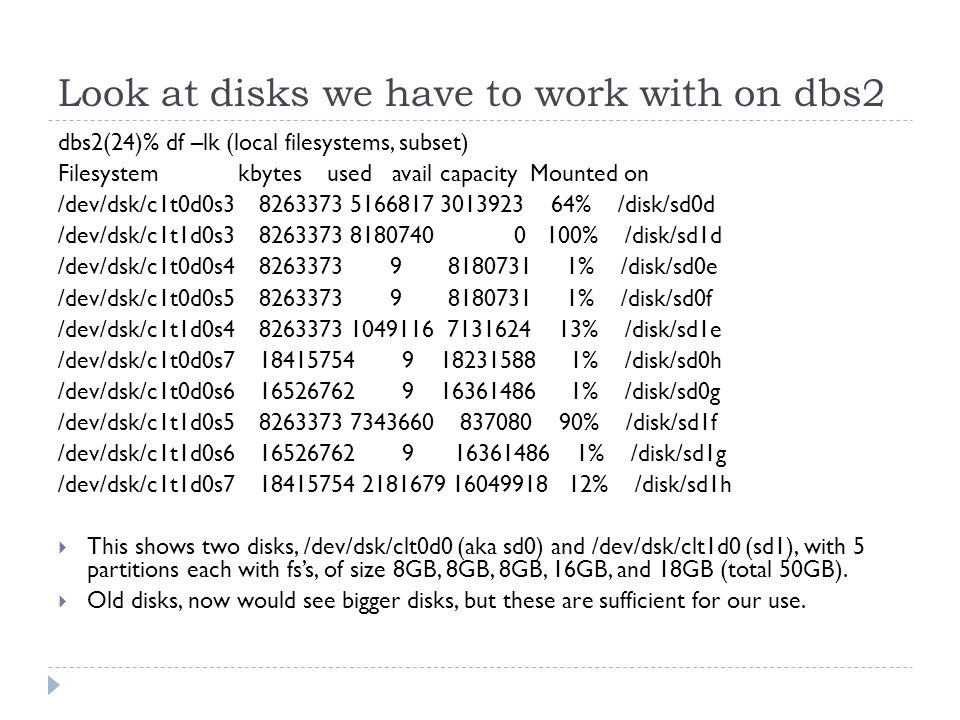 Other Database Files So far, considered the files holding pages of data for tables and indexes Other important files: saw redo*.dbf, undotbs01.dbf Redo log files: information that allows for crash recovery The current such file is appended to constantly as the DB is changed, read only in crash recovery The system cuts over to another of these files periodically For a serious database, should be mirrored, since otherwise is a single point of failure Undo tablespace: information that allows for rollbacks and also snapshots for efficient reads This data is written and read, more like the DB data, so held in a tablespace, unlike the redo log
