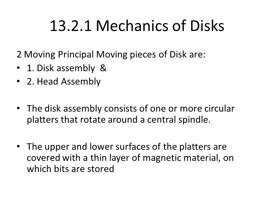 Mechanics of Disk