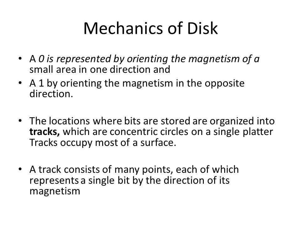 Mechanics of Disk Tracks are organized into sectors, which are segments of the circle separated by gaps gaps that are not magnetized in either direction.