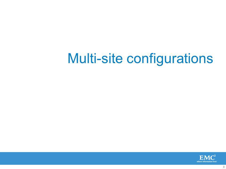 8 Multi-site configurations