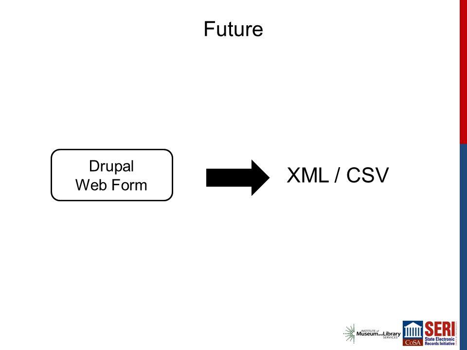 Future Drupal Web Form XML / CSV