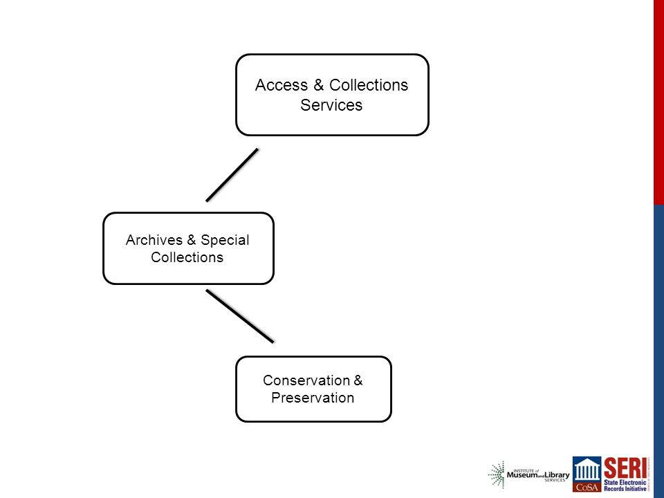 Access & Collections Services Archives & Special Collections Conservation & Preservation