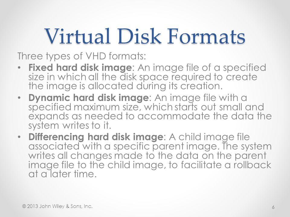 Mount a Virtual Hard Disk The Attach Virtual Hard Disk dialog box © 2013 John Wiley & Sons, Inc.27