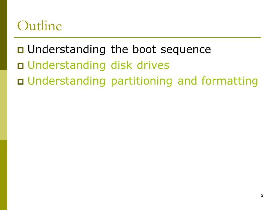 BIS@DSU 3 Understanding the Boot Sequence Avoid data contamination or modification Make sure computer boots from a floppy disk Delete key Ctrl+Alt+Insert Ctrl+A Ctrl+F1 F2 F12