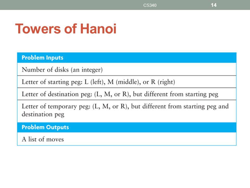 Towers of Hanoi CS340 14