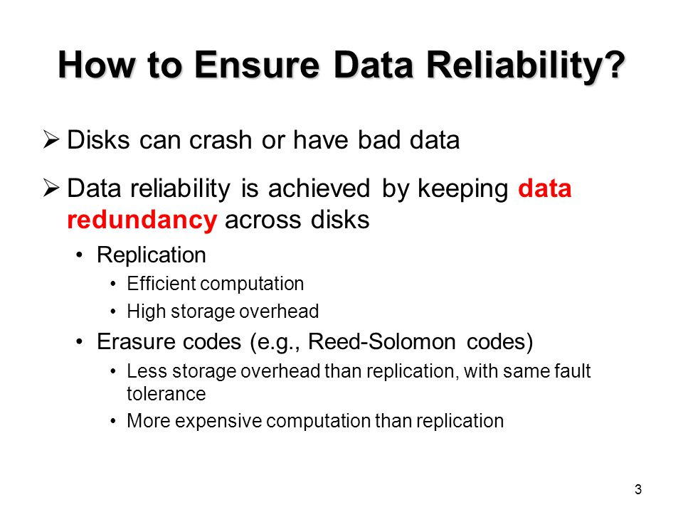 How to Ensure Data Reliability.