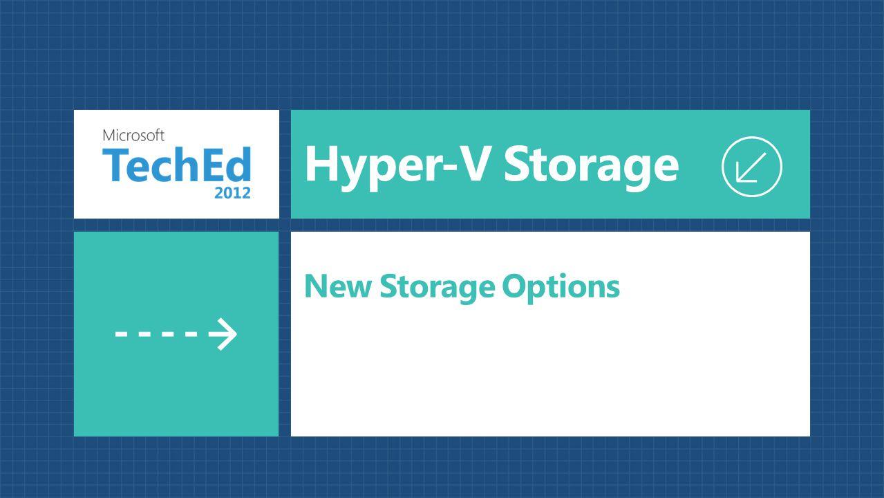 Hyper-V Storage New Storage Options