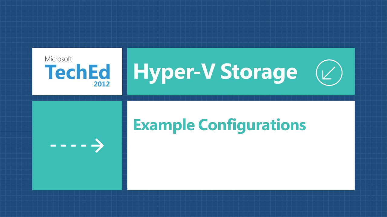 Hyper-V Storage Example Configurations