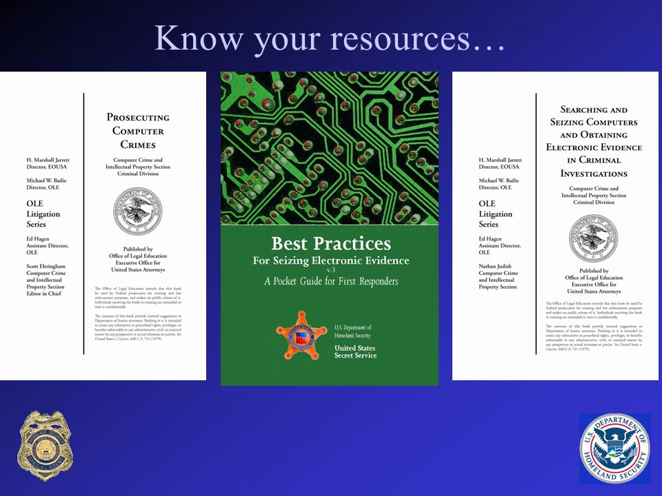 Know your resources…