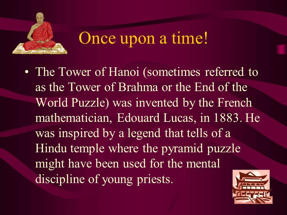 The Tower Of Hanoi Edouard Lucas - 1883