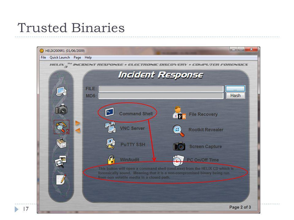 Trusted Binaries 17