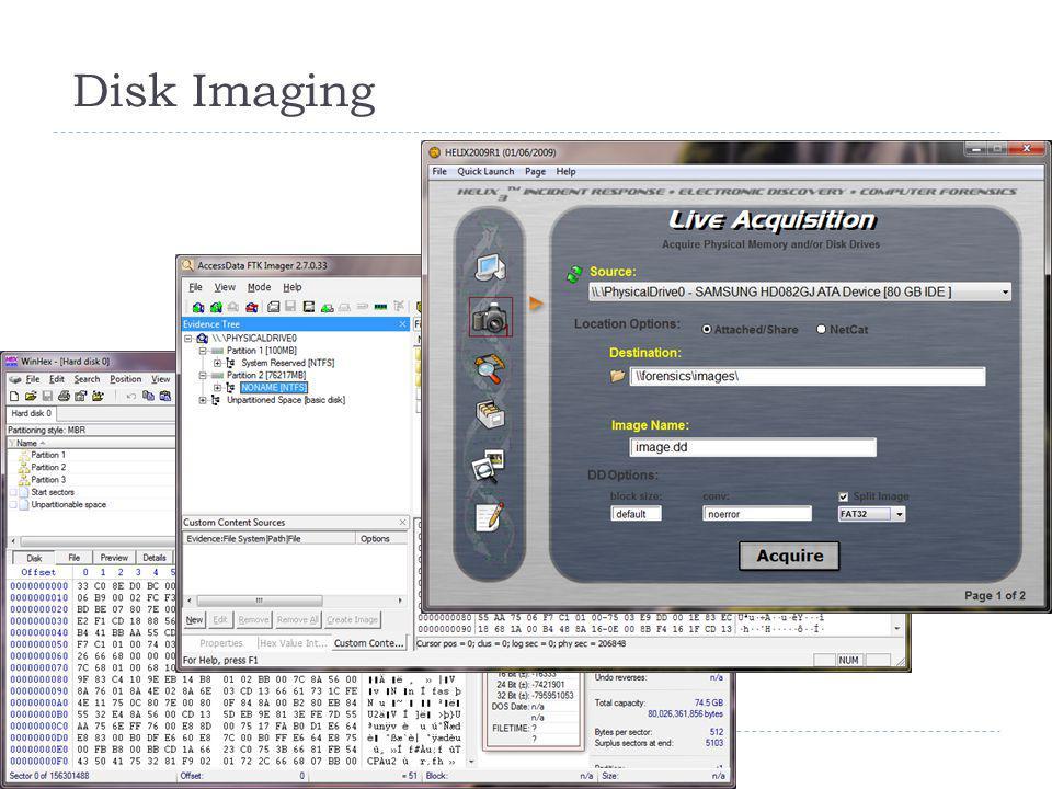 Disk Imaging 21