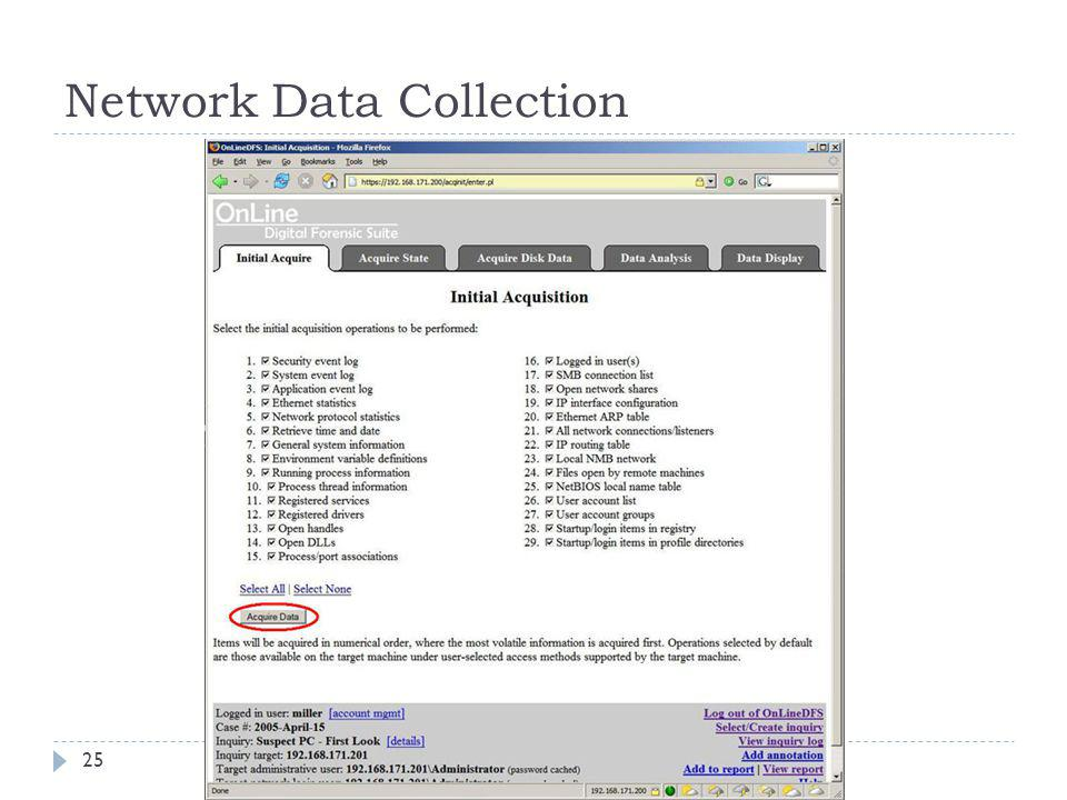 Network Data Collection 25