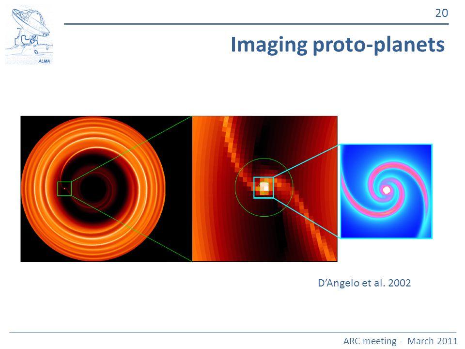 ARC meeting - March 2011 20 Imaging proto-planets DAngelo et al. 2002