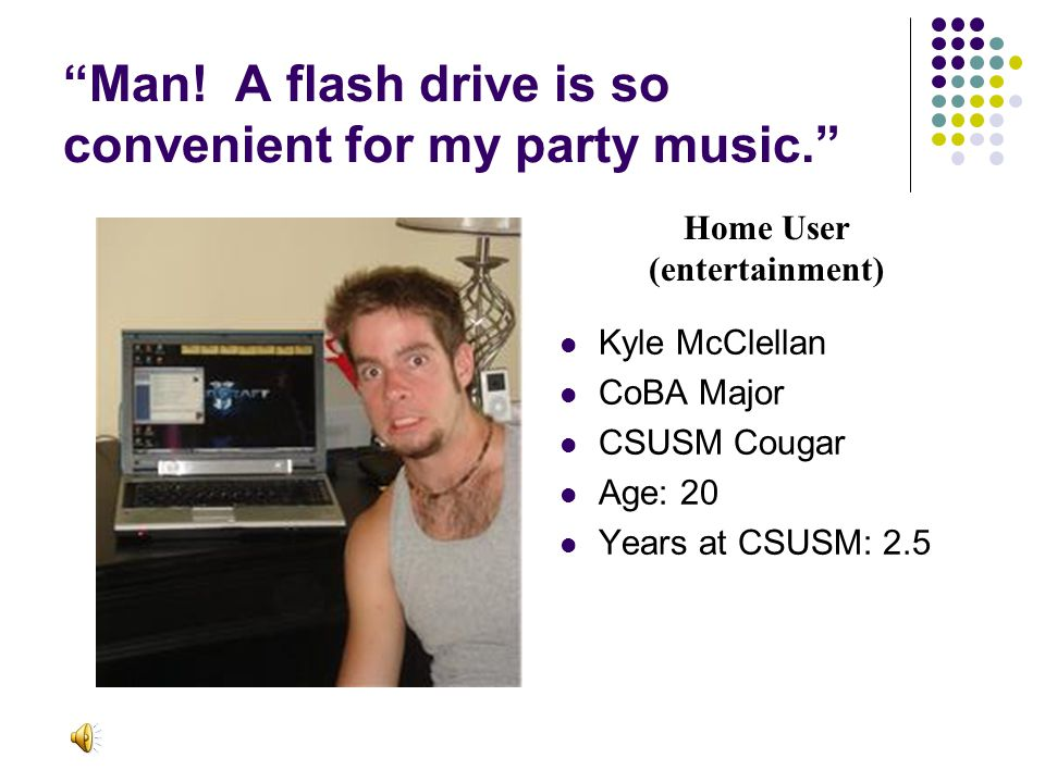 Man. A flash drive is so convenient for my party music.