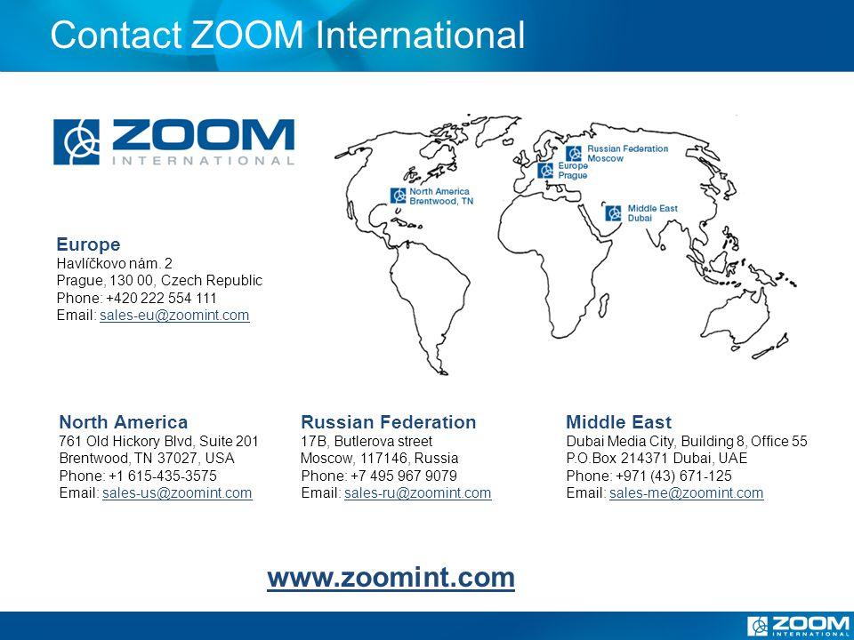 Contact ZOOM International Europe Havlíčkovo nám.
