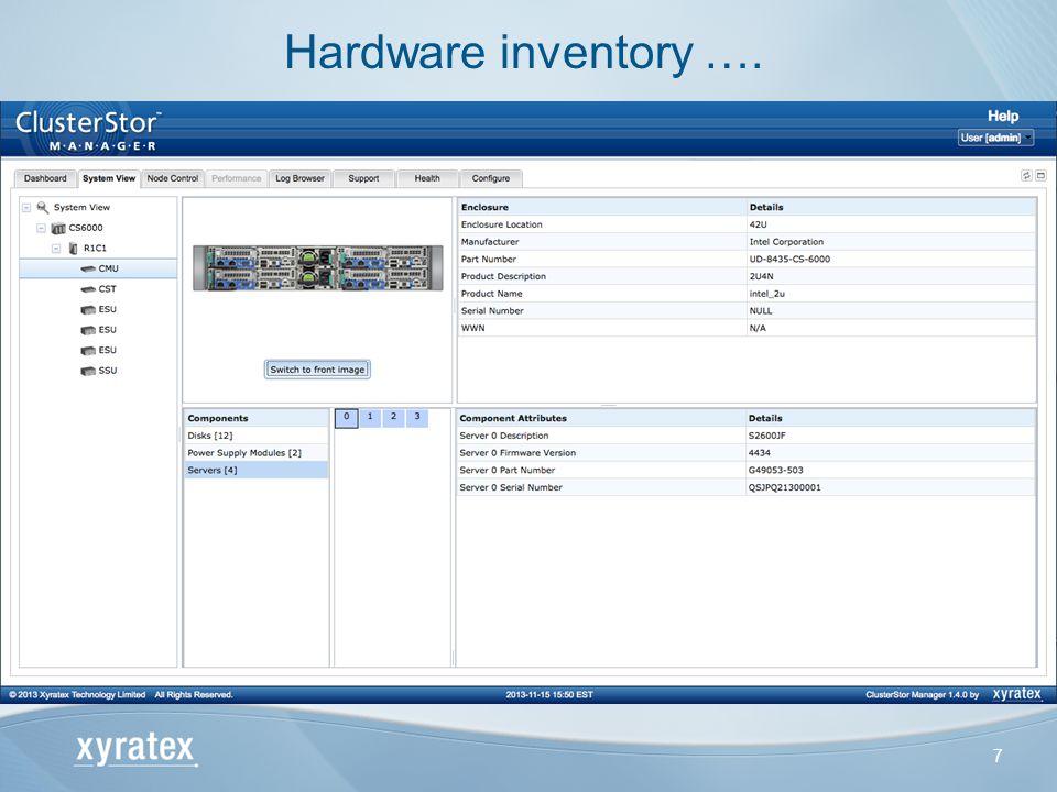 7 Hardware inventory ….