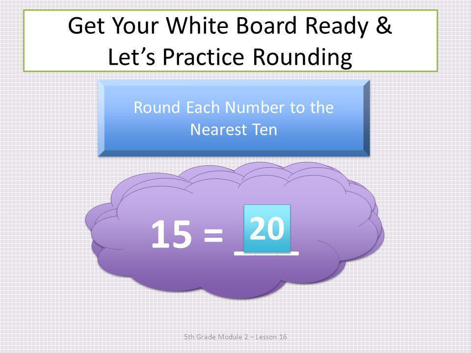 Time to Sprint! 2.E.8 & 2.E.9 5th Grade Module 2 – Lesson 16