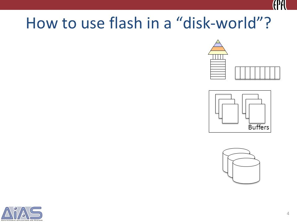 How to use flash in a disk-world.