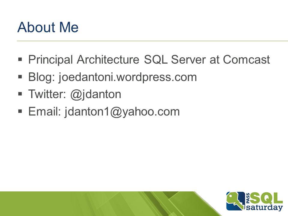 Contact Info Twitter: @jdanton Email: jdanton1@yahoo.comjdanton1@yahoo.com Blog (slides): joedantoni.wordpress.com