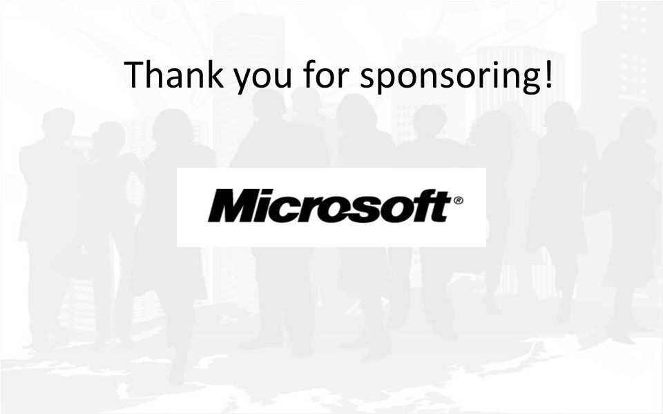 Thank you for sponsoring!