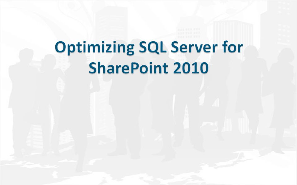 Agenda SQL Installation Best-Practices for SharePoint – General – CPU – Memory – Disk – Network Best-Practices for Content Databases Best-Practices for Administration & Service Application Databases