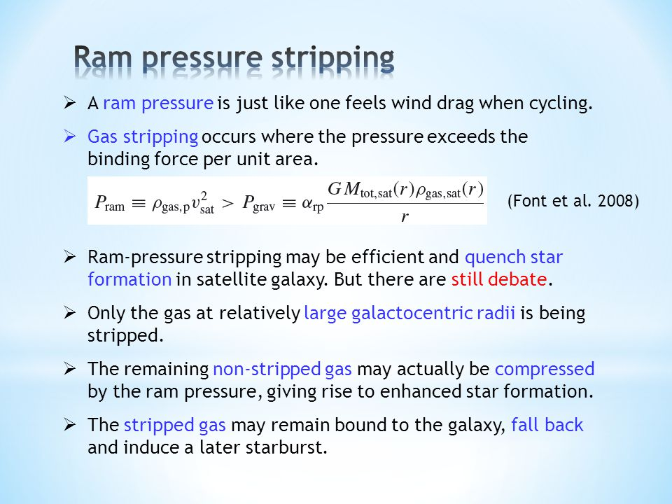 A ram pressure is just like one feels wind drag when cycling.