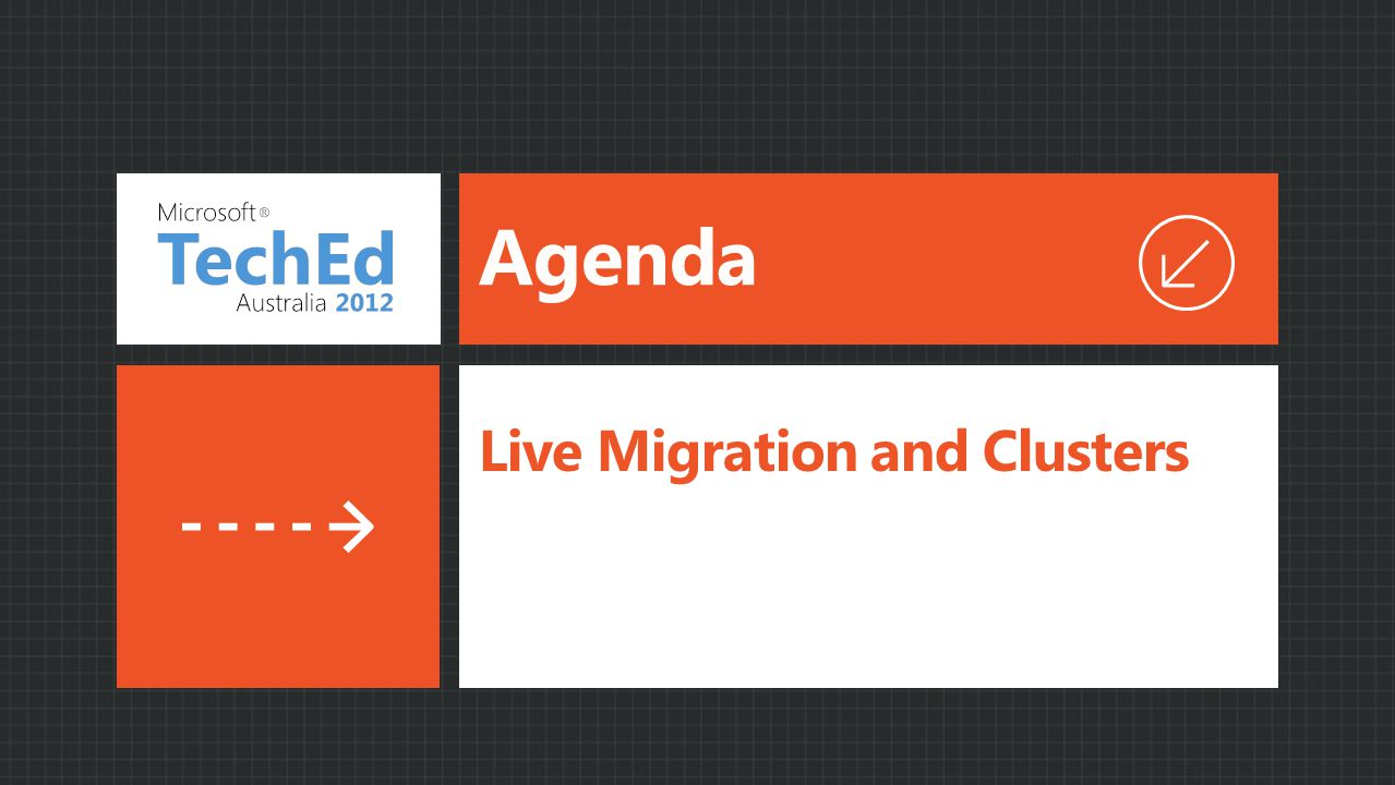 Agenda Live Migration and Clusters