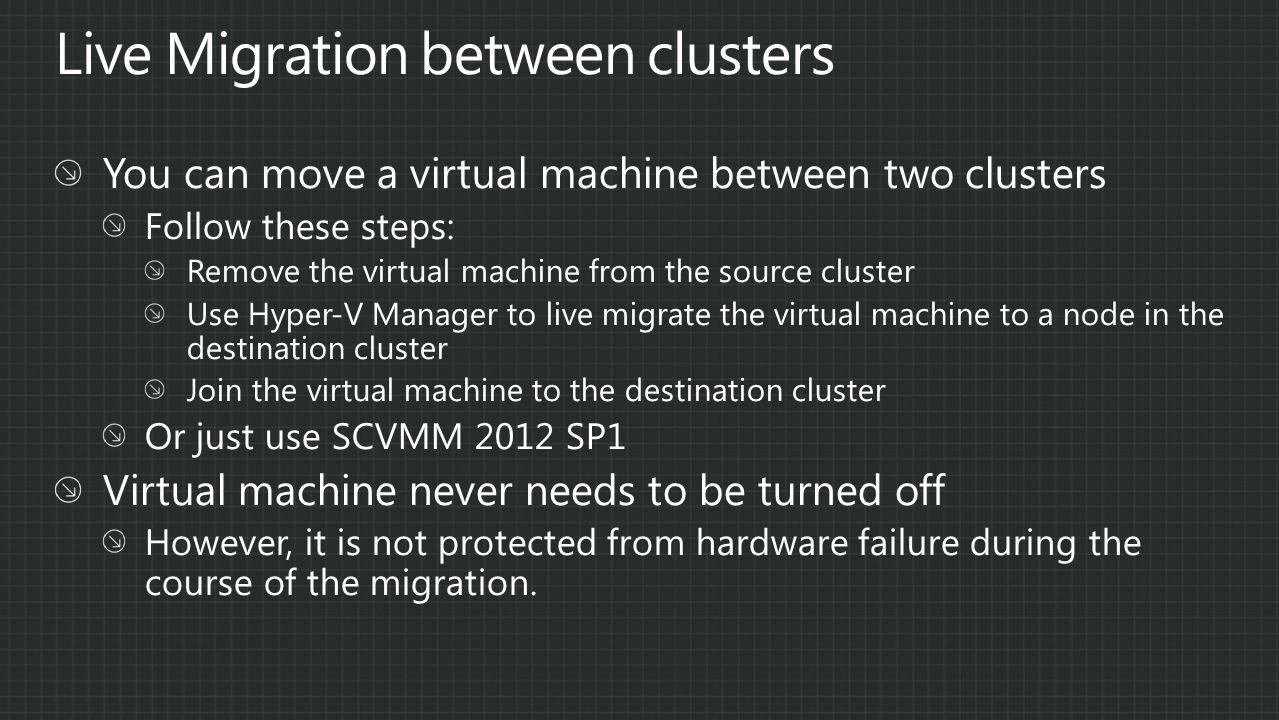 Demo Live Migration between Clusters