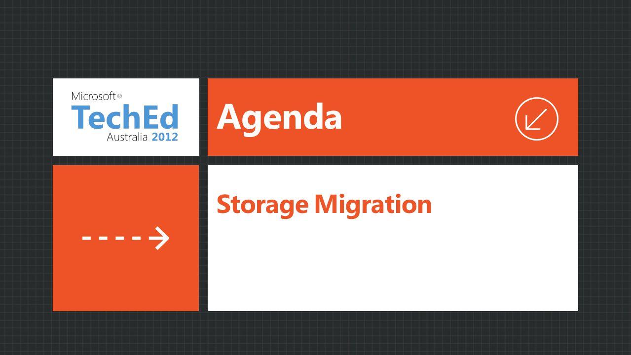 Agenda Storage Migration