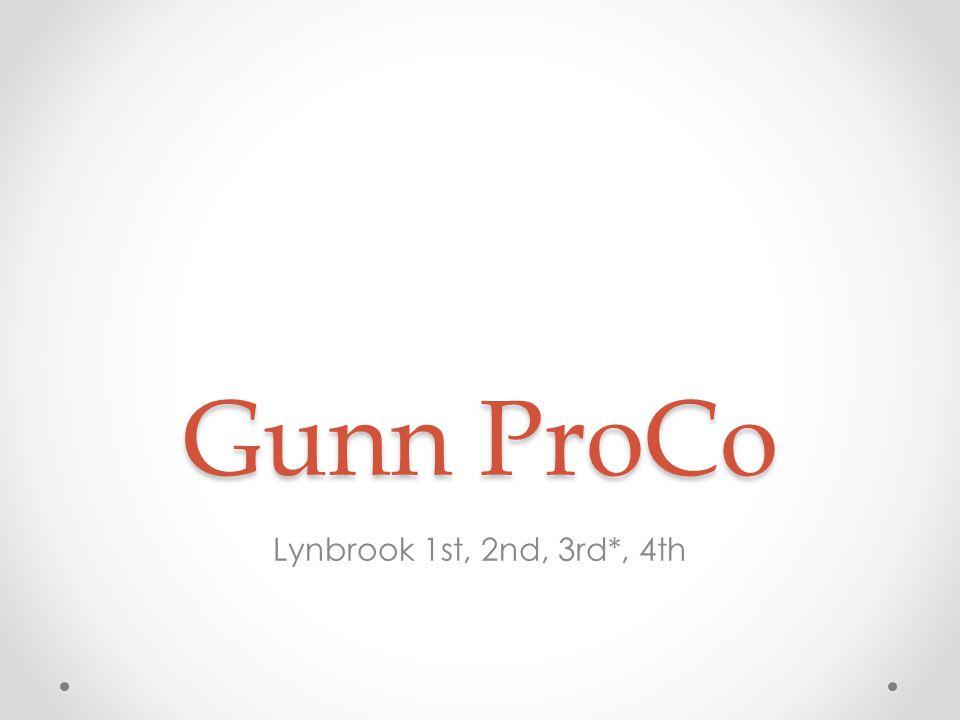 Gunn ProCo Lynbrook 1st, 2nd, 3rd*, 4th