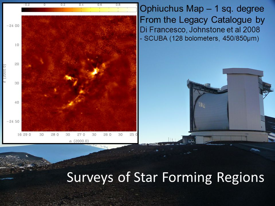 Surveys of Star Forming Regions Ophiuchus Map – 1 sq.