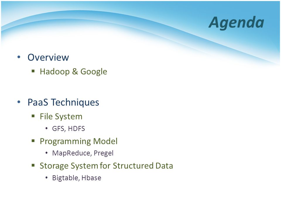 Whats HDFS Hadoop Distributed File System Reference from Google File System A scalable distributed file system for large data analysis Based on commodity hardware with high fault- tolerant The primary storage used by Hadoop applications Hadoop Distributed File System (HDFS) MapReduce Hbase A Cluster of Machines Cloud Applications