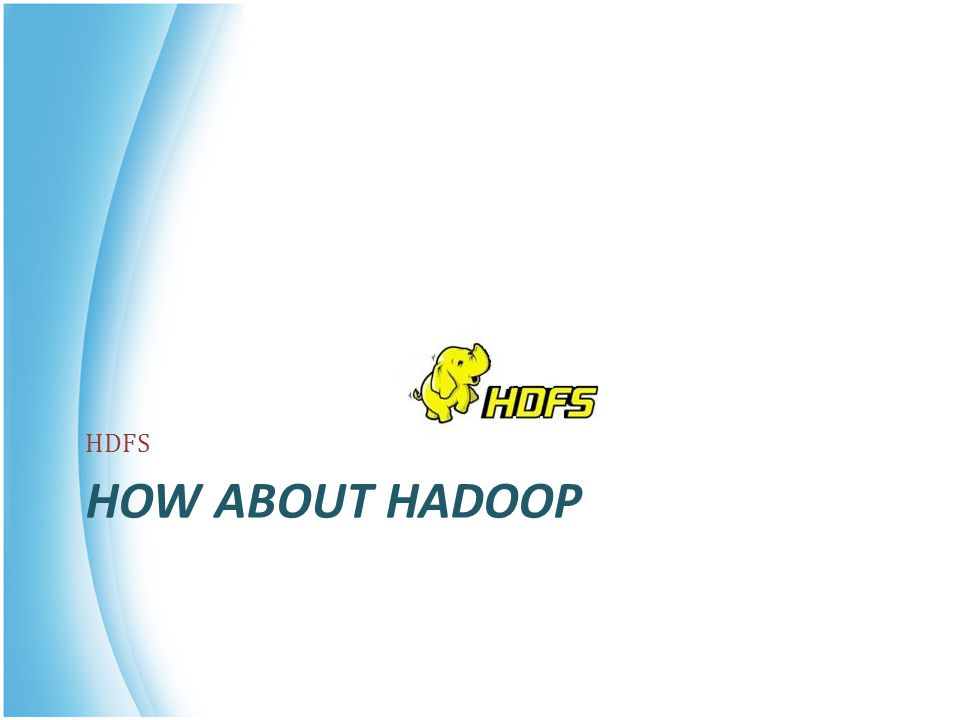 HOW ABOUT HADOOP HDFS