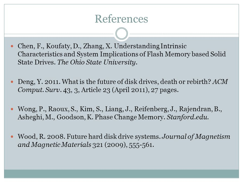 References Chen, F., Koufaty, D., Zhang, X.