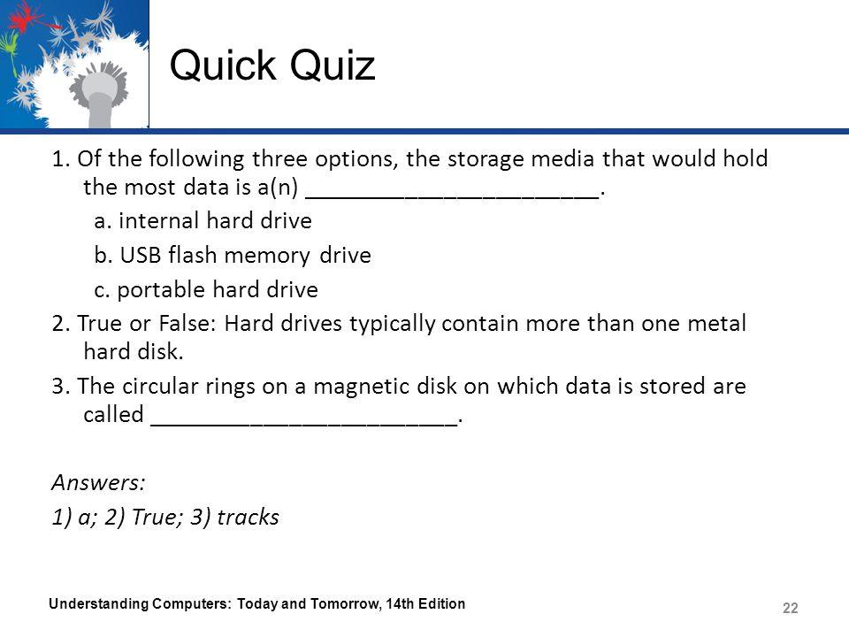 Quick Quiz 1.