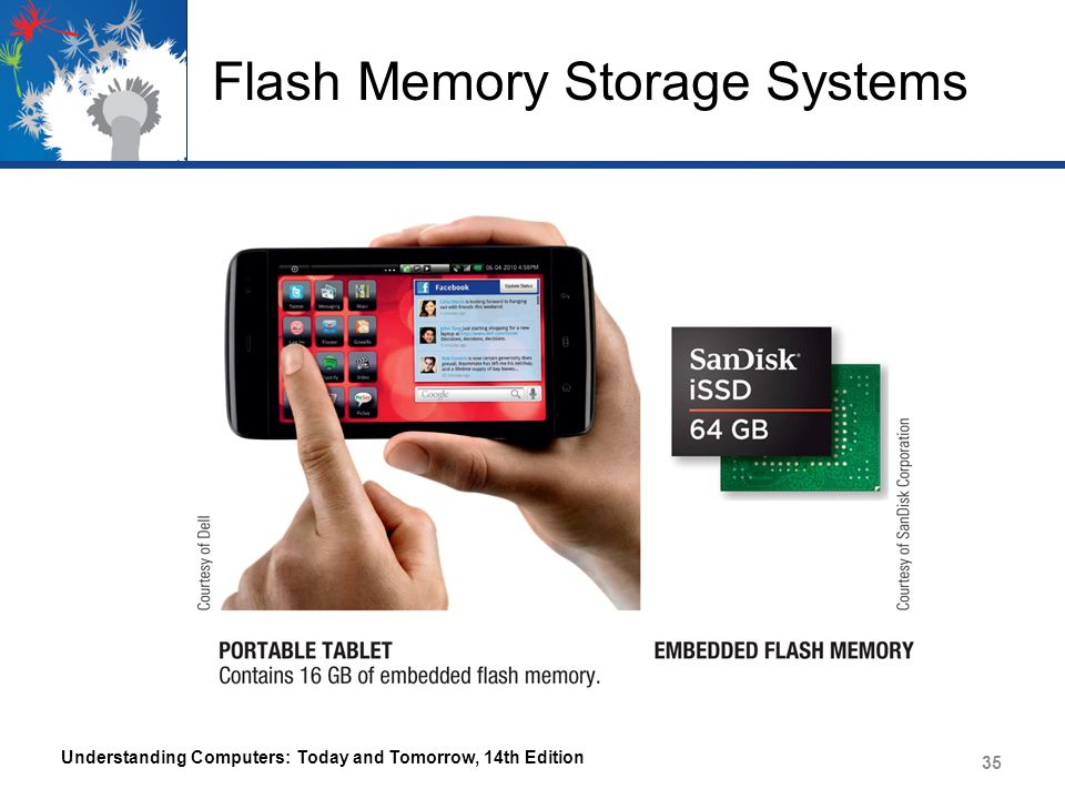 Flash Memory Storage Systems Understanding Computers: Today and Tomorrow, 14th Edition 35