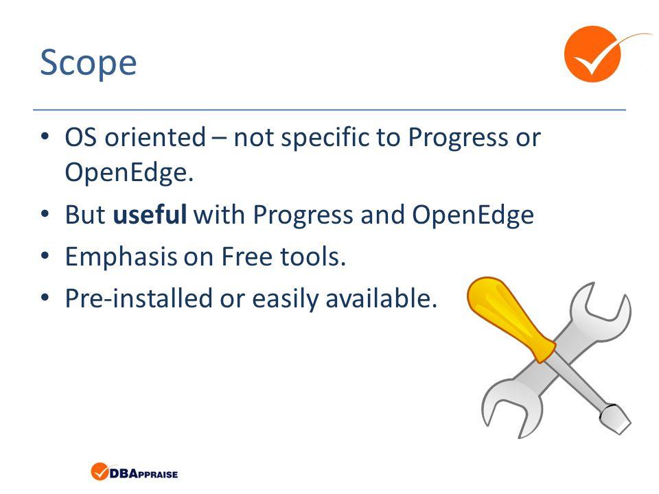 Progress Temporary Files # ls -l /protemp total 64 -rw-r--r-- 1 tom users 32768 2010-11-13 16:21 DBI1640184576paLIUh -rw-r--r-- 1 tom users 32768 2010-11-13 17:02 DBI2036800256vFfHS7 -rw-r--r-- 1 root users 0 2010-11-13 16:21 lbi1Bncn0 -rw-r--r-- 1 root users 0 2010-11-13 17:02 lbiXuiCqK -rw-r--r-- 1 tom users 0 2010-11-13 17:02 rcdD5N6Ik -rw-r--r-- 1 tom users 0 2010-11-13 16:21 rcdL2ugyw -rw-r--r-- 1 tom users 0 2010-11-13 16:21 srtfrdJsL -rw-r--r-- 1 tom users 19283638 2010-11-13 17:02 srtzgpRzx