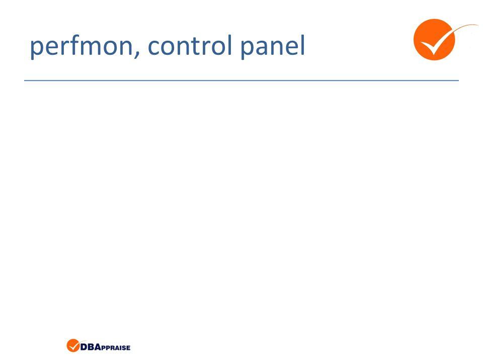 perfmon, control panel