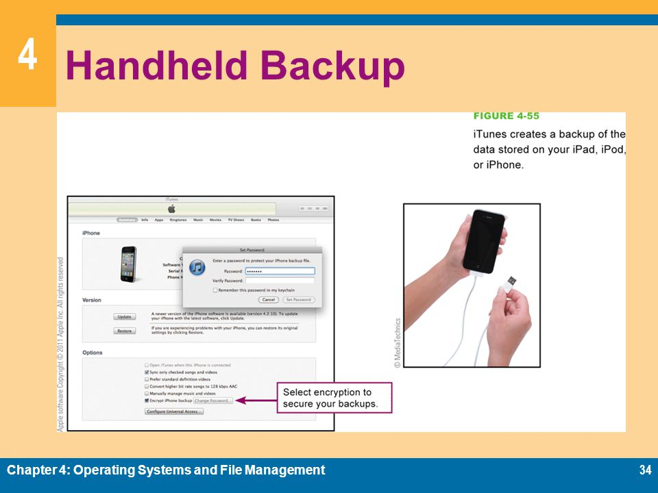 4 Handheld Backup Chapter 4: Operating Systems and File Management34