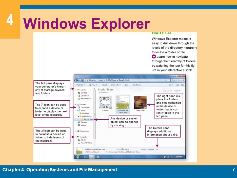 4 Windows Explorer Chapter 4: Operating Systems and File Management7