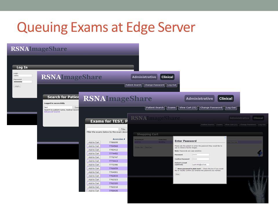 Queuing Exams at Edge Server
