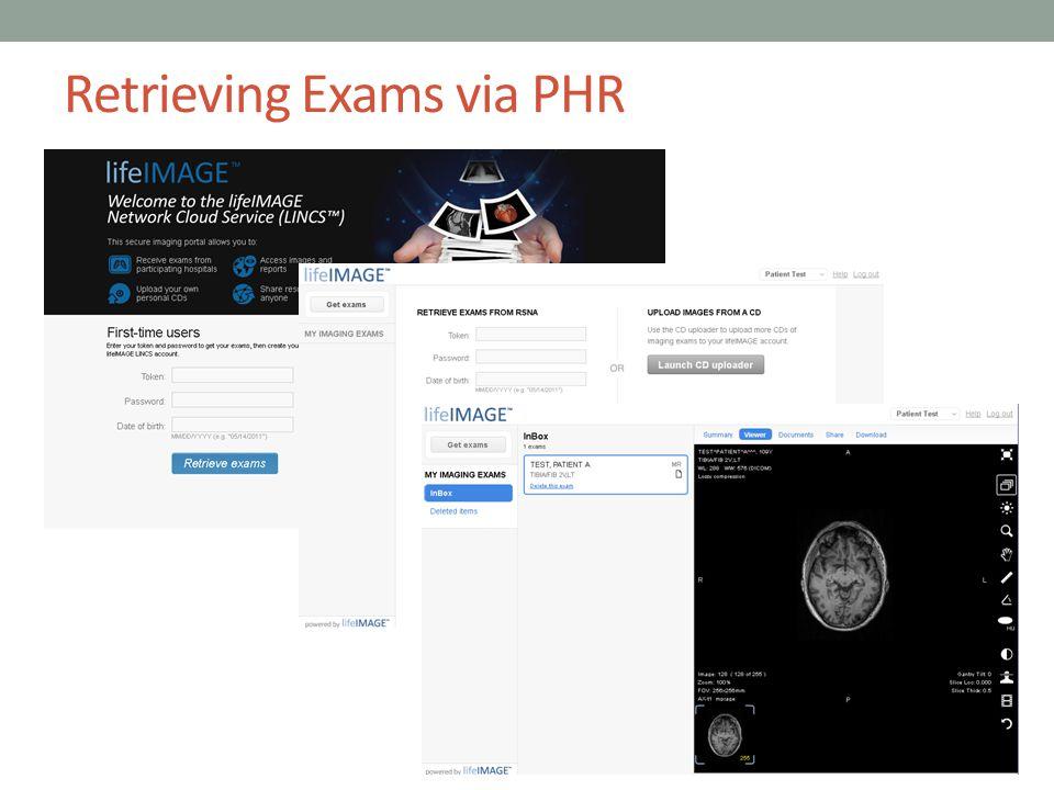 Retrieving Exams via PHR