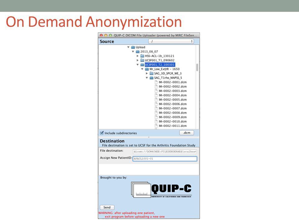 On Demand Anonymization