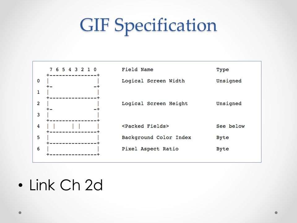 GIF Specification Link Ch 2d