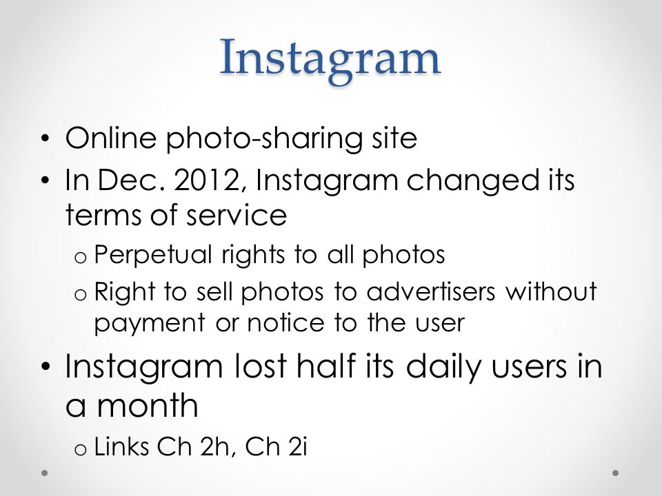 Instagram Online photo-sharing site In Dec.